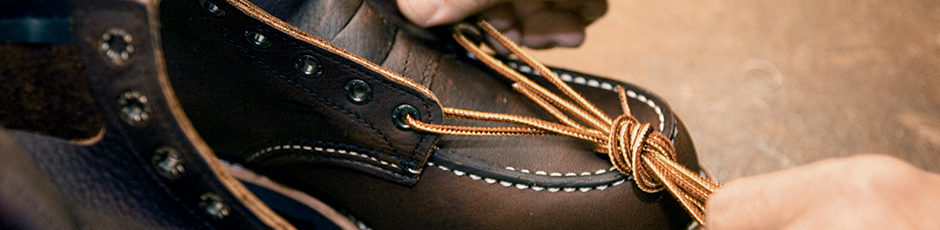 Replacement Laces on a pair of Red Wing Work Boots